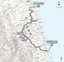 11 - Tortoreto Lido > Castelfidardo - stage route