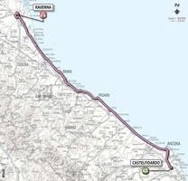 12 - Castelfidardo > Ravenna - stage route