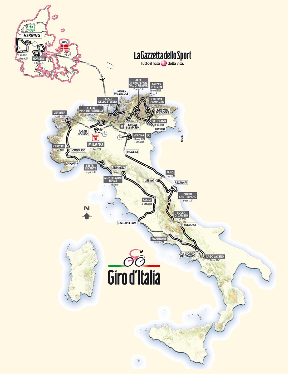 The Giro d'Italia 2012