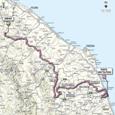 Carte 6ème étape Giro d'Italia 2012