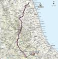 Carte 7ème étape Giro d'Italia 2012