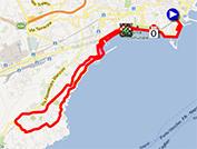 La carte du parcours de la première étape du Giro d'Italia 2013 sur Google Maps