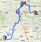The map with the race route of the tenth stage of the Giro d'Italia 2013 on Google Maps