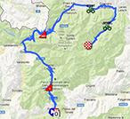 La carte du parcours de la dix-neuvième étape du Giro d'Italia 2013 sur Google Maps