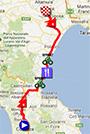 La carte du parcours de la cinquième étape du Giro d'Italia 2013 sur Google Maps