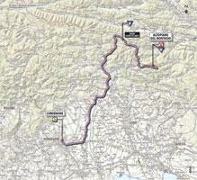 La carte du parcours de la 10ème étape du Giro d'Italia 2013