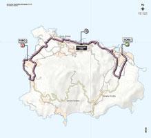 La carte du parcours de la 2ème étape du Giro d'Italia 2013