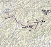 La carte du parcours de la 20ème étape du Giro d'Italia 2013