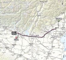 La carte du parcours de la 21ème étape du Giro d'Italia 2013