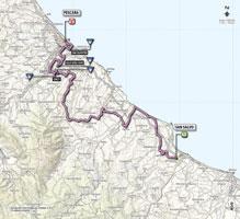 La carte du parcours de la 7ème étape du Giro d'Italia 2013