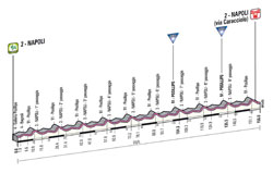 The profile of the 1st stage of the Giro d'Italia 2013