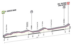 The profile of the 8th stage of the Giro d'Italia 2013