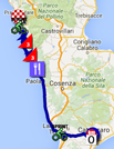 The race route of the fourth stage of the Giro d'Italia 2016 on Google Maps
