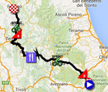 The race route of the seventh stage of the Giro d'Italia 2016 on Google Maps