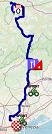 La carte du parcours de la 18ème étape du Giro d'Italia 2019 sur Open Street Maps