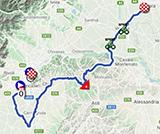 La carte du parcours de la 2ème étape du Giro d'Italia 2021 sur Open Street Maps