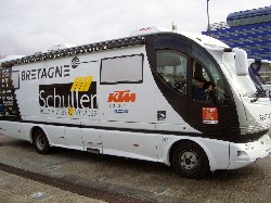 The bus of the Bretagne-Schuller team