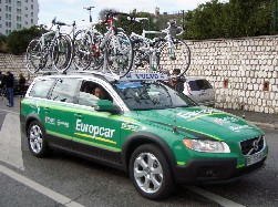 The car of Team Europcar