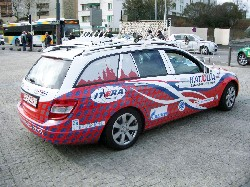 The car of the Katusha team