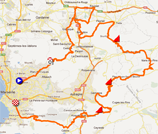 The map with the race route of the Grand Prix Cycliste La Marseillaise 2013 on Google Maps