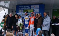 The podium of the Grand Prix Cycliste La Marseillaise - © Kévin Colloc