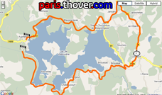 The map with the Grand Prix du Muguet 2010 route on Google Maps