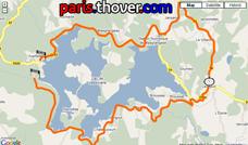De kaart met het parcours van de Grand Prix du Muguet 2010 op Google Maps