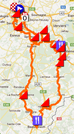 The Liège-Bastogne-Liège 2012 race route on Google Maps