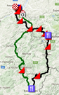 The race route of Liège-Bastogne-Liège 2017 on Google Maps