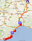 The Milan-Sanremo 2013 race route on Google Maps