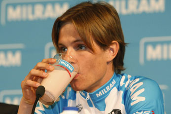 Linus Gerdemann already is a fan of Milram milk