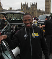 Songezo Jim, here at the end of the Tour of Britain