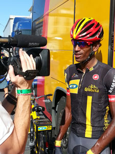 Eritrean Daniel Teklehaimanot generated lots of publicity for MTN-Qhubeka, both on and off the bike