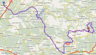 The map of the 7th stage