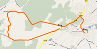 The route of the first stage of Paris-Nice 2010 on Google Maps