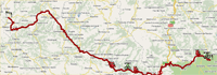 The route of the fifth stage of Paris-Nice 2010 on Google Maps