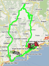 The route of the eighth stage of Paris-Nice 2010 on Google Maps