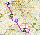 The map with the stage route for the 2nd stage of Paris-Nice 2011 sur Google Maps