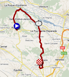 The map with the stage route for the 6th stage of Paris-Nice 2011 sur Google Maps