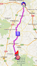 The race route of the third stage of Paris-Nice 2012 on Google Maps