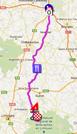 La carte du parcours de la troisième étape de Paris-Nice 2012 sur Google Maps