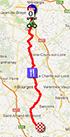 The map with the race route of the second stage of Paris-Nice 2013 on Google Maps
