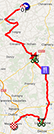 De kaart met het parcours van de derde etappe van Parijs-Nice 2014 op Google Maps