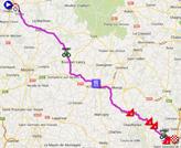 De kaart met het parcours van de vierde etappe van Parijs-Nice 2014 op Google Maps