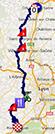 De kaart met het parcours van de vijfde etappe van Parijs-Nice 2014 op Google Maps