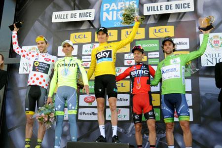 The podium of Paris-Nice 2016 - © A.S.O. / G. Demouveaux