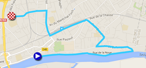 La carte du parcours du prologue de Paris-Nice 2016 sur Google Maps