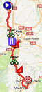 The race route of the 5th stage of Paris-Nice 2017 on Google Maps