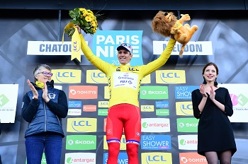 Arnaud Démare wearing the yellow jersey - © ASO/Alex BROADWAY