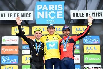The podium of Paris-Nice 2018 - © ASO/Alex BROADWAY